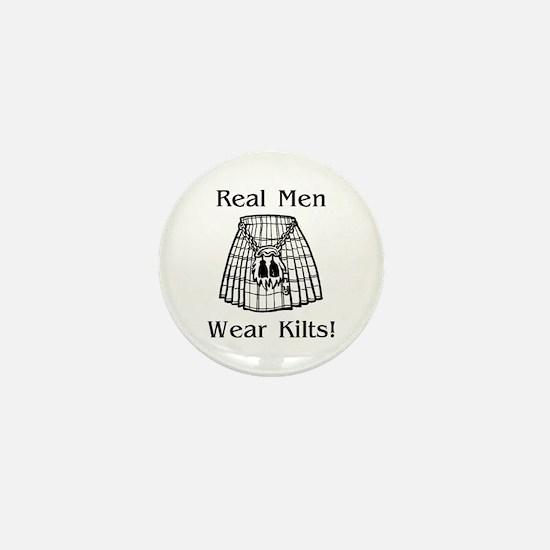 Real Men Wear Kilts Mini Button