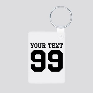 Custom Sports Jersey Number Keychains