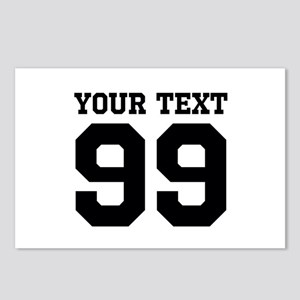 Custom Sports Jersey Number Postcards (Package of