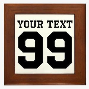 Custom Sports Jersey Number Framed Tile