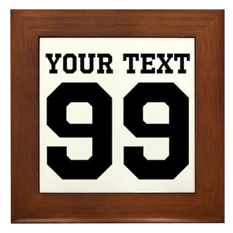 Custom Sports Jersey Number Framed Tile  sc 1 st  CafePress & Jersey Number Wall Art - CafePress