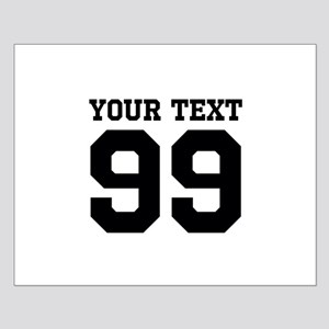 Custom Sports Jersey Number Posters