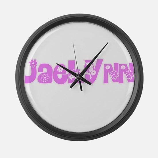 Jaelynn Flower Design Large Wall Clock