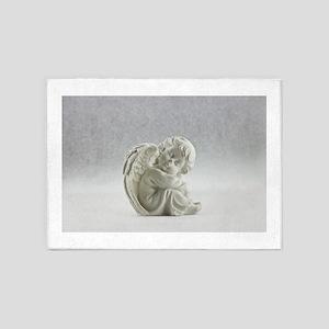 snow angel 5'x7'Area Rug