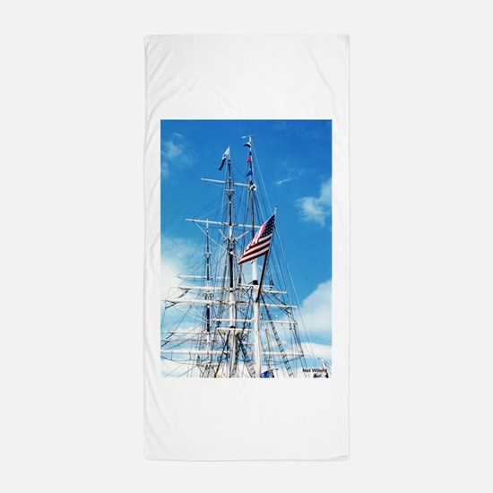 Cute Tall ship Beach Towel