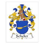 Scheler Family Crest  Small Poster