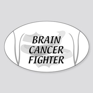BRAIN CANCER FIGHTER Oval Sticker