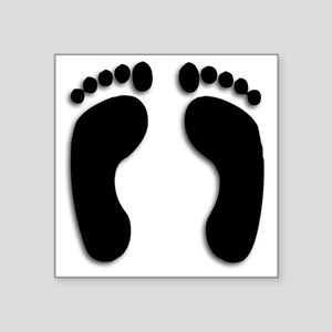 Bare foot Prints Sticker