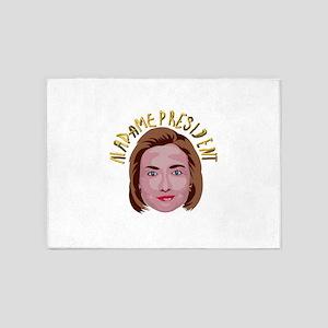Hillary Clinton 5'x7'Area Rug