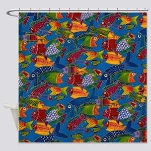 Fish Print Shower Curtain