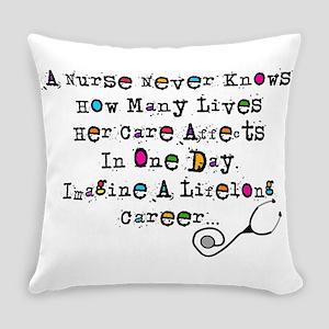Retired Nurse Poem Everyday Pillow