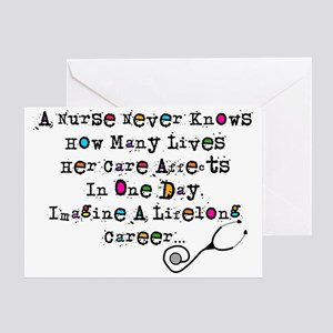 Retired Nurse Poem Greeting Cards