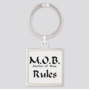 MOB Rules Square Keychain