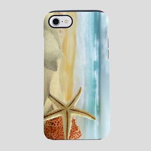 Starfish on Beach iPhone 7 Tough Case