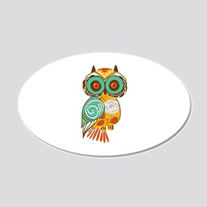 Who Me Owl 20x12 Oval Wall Decal