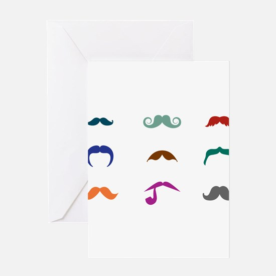 Mustaches Greeting Card