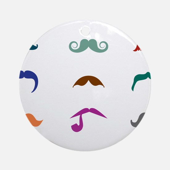 Mustaches Ornament (Round)
