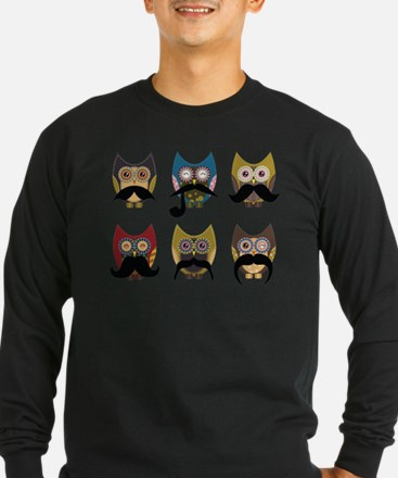 Cute owls with mustaches T