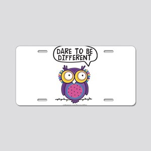 Dare to be different Owl Aluminum License Plate