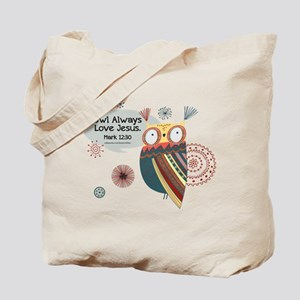 Owl Always Love Jesus Owl Tote Bag