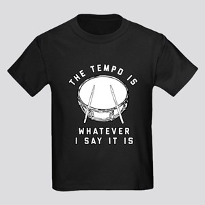 The Tempo Is Whatever I Say It I Kids Dark T-Shirt