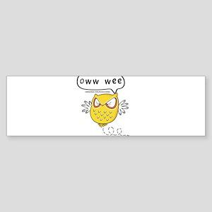 Oww wee Sticker (Bumper)