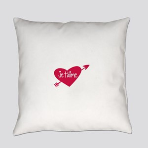 Je taime Everyday Pillow