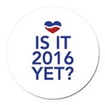 2016 heart Round Car Magnet