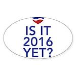 2016 heart Sticker (Oval 50 pk)