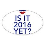 2016 heart Sticker (Oval 10 pk)