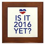 2016 heart Framed Tile