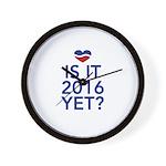 2016 heart Wall Clock