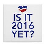 2016 heart Tile Coaster