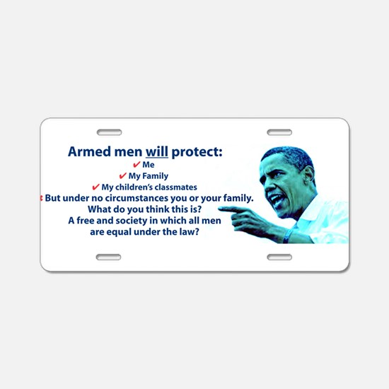 Armed men Aluminum License Plate