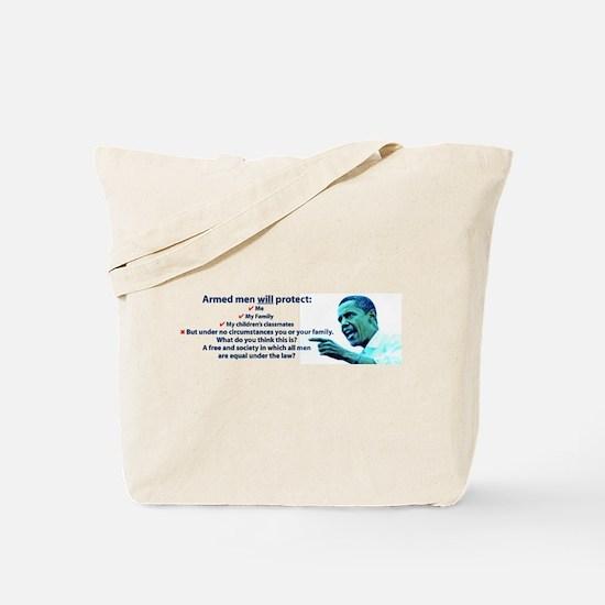 Armed men Tote Bag