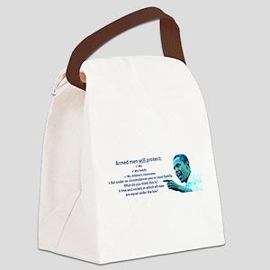 Armed men Canvas Lunch Bag