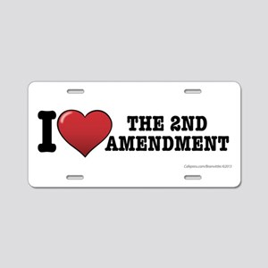 2nd amendment Aluminum License Plate