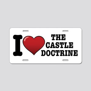 I love the Castle Doctrine Aluminum License Plate