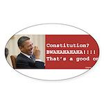 Constitution Sticker (Oval)