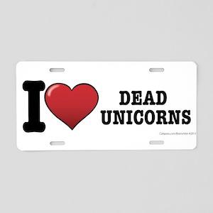 Dead Unicorns Aluminum License Plate