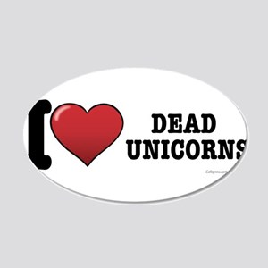 Dead Unicorns 20x12 Oval Wall Decal