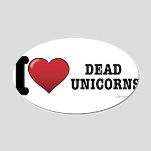 Dead Unicorns 20x12 Oval Wall Decal