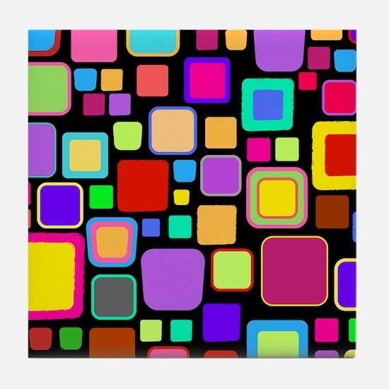 square pattern Tile Coaster