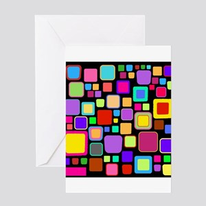 square pattern Greeting Cards