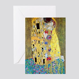 Victorian erotic greeting cards cafepress the kiss by gustav klimt vintage a greeting cards m4hsunfo