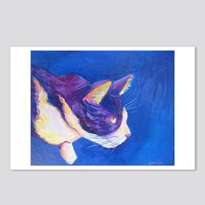 Sunset Tuxedo Cat Art Postcards (Package of 8)