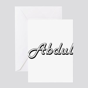 Abdul Classic Style Name Greeting Cards
