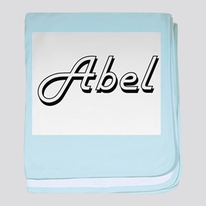 Abel Classic Style Name baby blanket