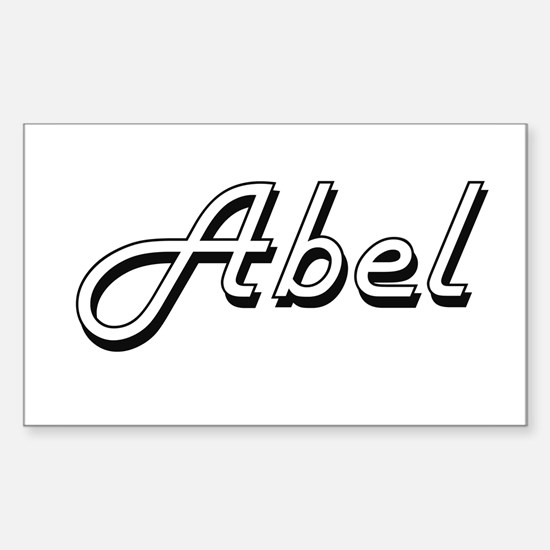 Abel Classic Style Name Decal