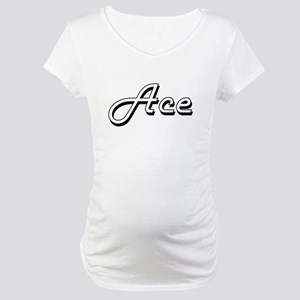 Ace Classic Style Name Maternity T-Shirt
